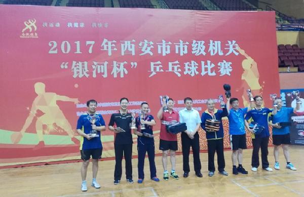 我校教职工乒乓球队获西安市市级机关乒乓球比赛男子团...